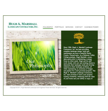 Hugh Marshall Landscape website