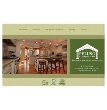 Peluso Construction website
