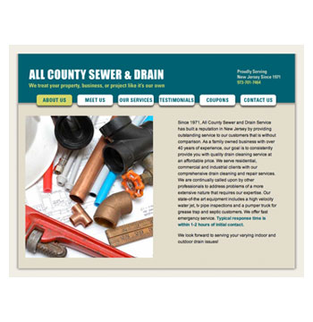 All County Sewer website