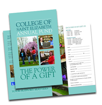 College of Saint Elizabeth annual fund mailer