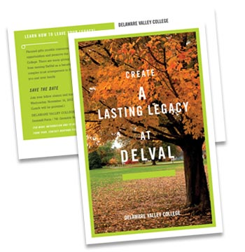 Delaware Valley College planned giving postcard