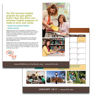 ELS Educational Services desktop calendar