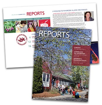 Far Brook School alumni magazine redesign
