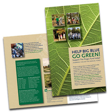 The Pingry School annual fund green mailer