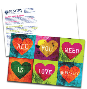 "The Pingry School ""All You Need is Love"" postcard"