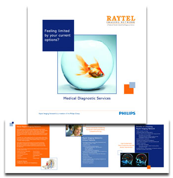 Raytel Imaging Network trade show brochure
